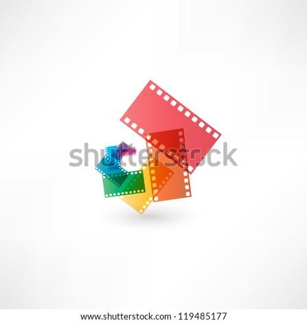 Film icon wave - stock vector