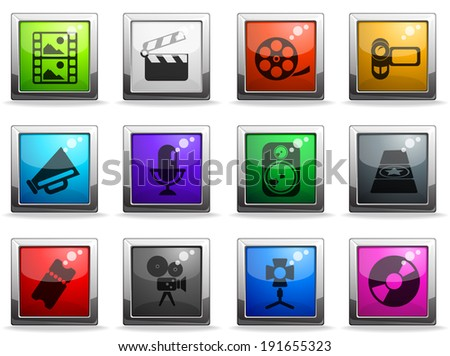 Film Industry Icons - stock vector