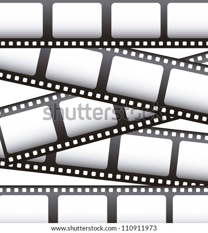 film movie over white background. vector illustration - stock vector