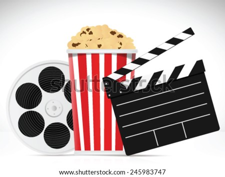 Film object on white background - stock vector