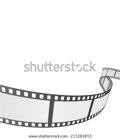 film reel background design - stock vector