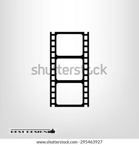Film reel icon vector illustration eps10. - stock vector