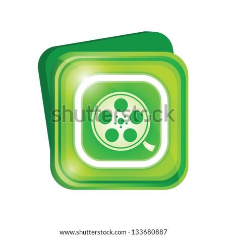 Film reel sign - stock vector