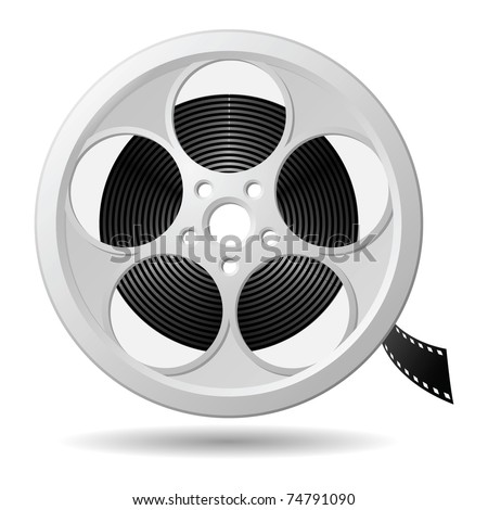 Film reel, vector eps version 8 - stock vector