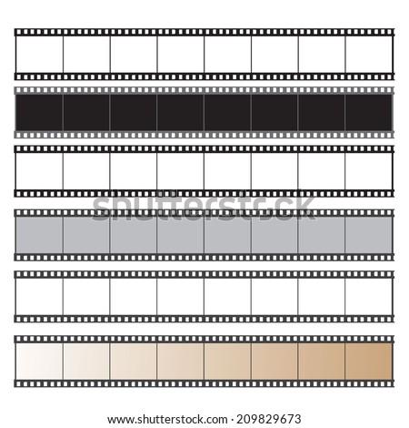 film reel vector set  - stock vector