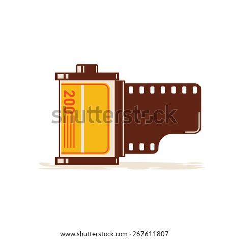 Film Roll - stock vector