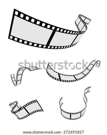 film roll strip tape set design - stock vector
