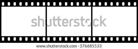 Film strip icon . Vector illustration - stock vector
