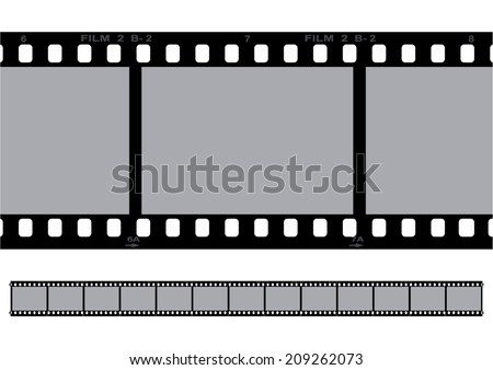 Film strip illustration, vector - stock vector