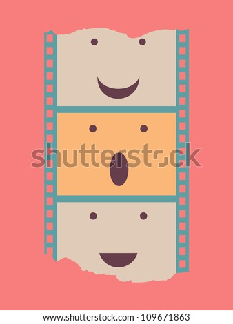 film strip poster - stock vector