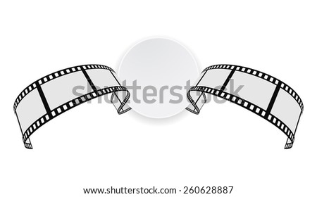 film strip round banner design - stock vector