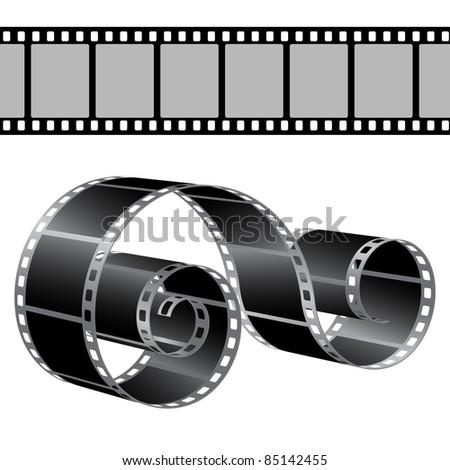 Film strip vector template - stock vector