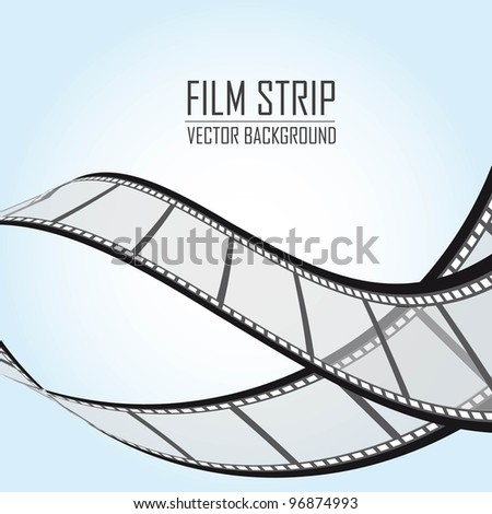 film stripes over blue background. vector illustration - stock vector