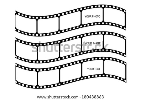Film strips collection on white background Vector illustration  - stock vector
