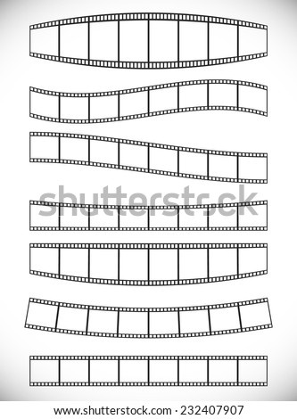 Film strips with effects - stock vector