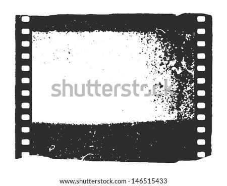 Film. Vector background. Grunge background. Eps8 - stock vector