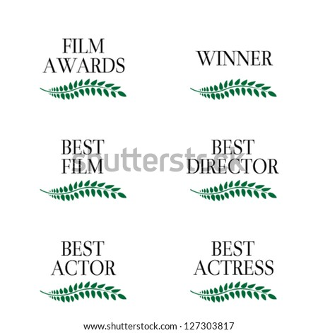Film Winners 3 - stock vector