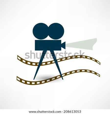 filming icon - stock vector