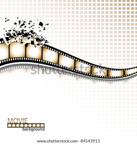 Filmstrip explosion background. Vector illustration. - stock vector