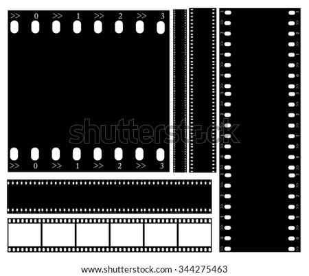 Filmstrip illustration vector - stock vector