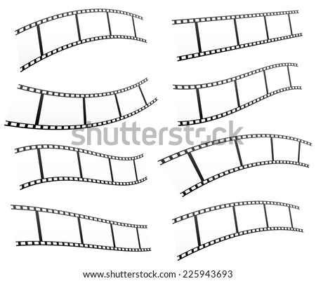 Filmstrips vectors for photography concept (eps10) - stock vector