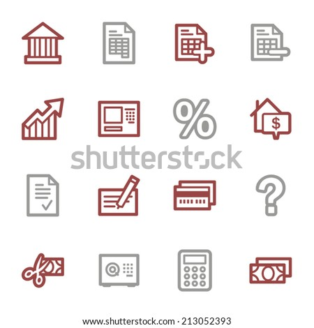 Finance and Banking icons - stock vector