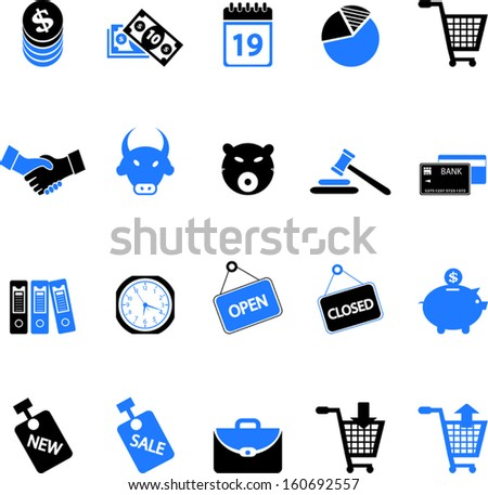 Finance and Shopping Icons - stock vector
