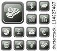 Finance button set - stock vector