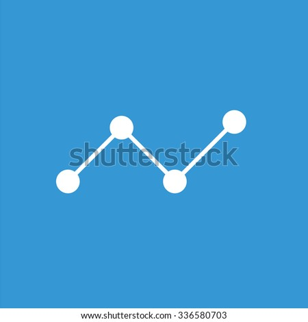 Finance curve icon. Business icon. - stock vector