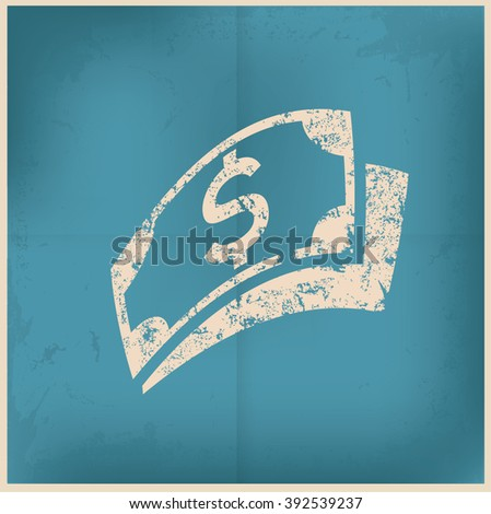 Finance design on old paper background,vector - stock vector