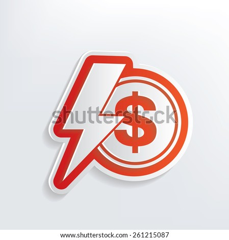 Finance design on white background,clean vector - stock vector