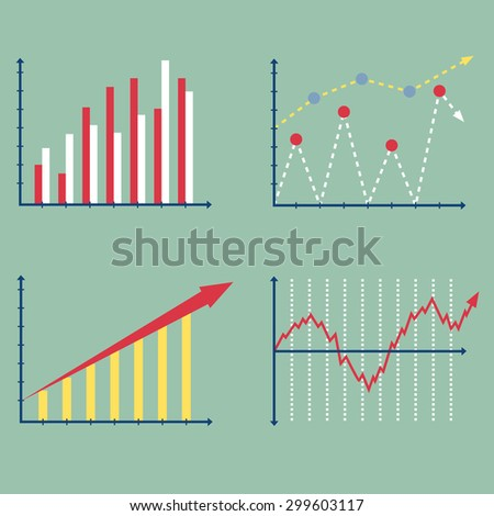 Finance Graph Graphic, Vector Illustration EPS 10. - stock vector