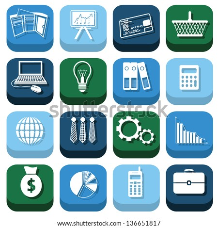 finance icons - stock vector