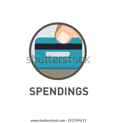 finance icons series; credit card icon isolated on white background - stock vector