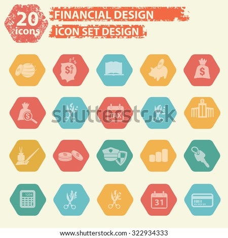 Finance icons,vector - stock vector
