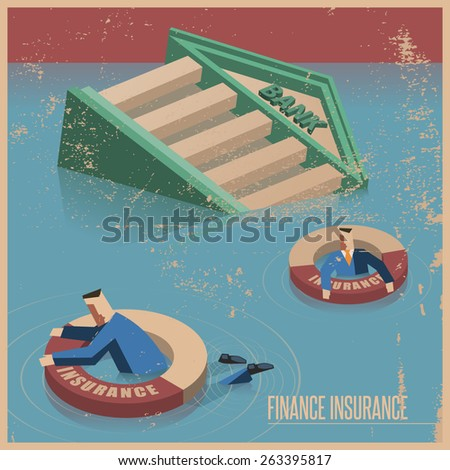 Finance insurance concept - stock vector