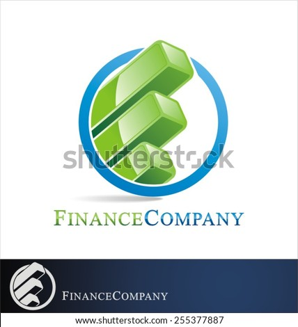 finance logo vector - stock vector