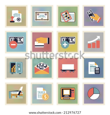 Finance modern color icons. - stock vector