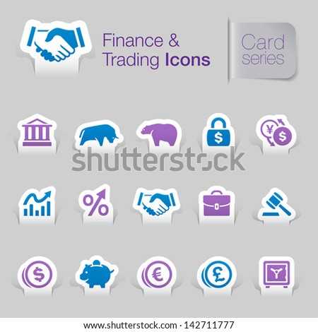 Finance & trading related icons - stock vector