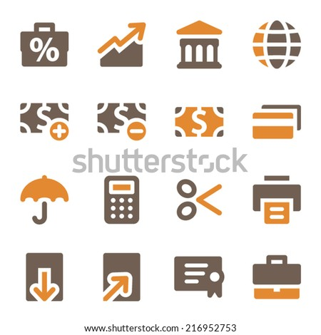 Finance web icons set - stock vector