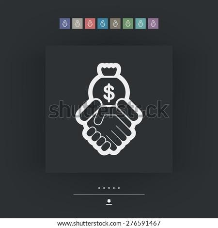 Financial agreement - stock vector