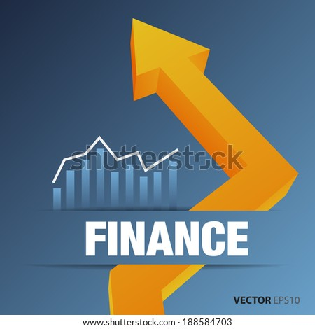 Financial and business chart and graphs - stock vector