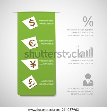 Financial design elements - stock vector