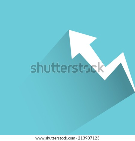 financial growth chart - stock vector