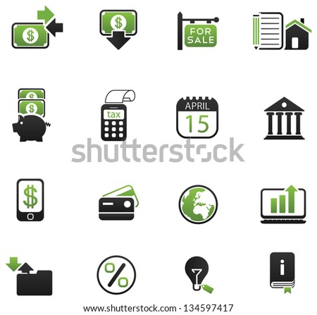 Financial Icon set for your app/web! - stock vector