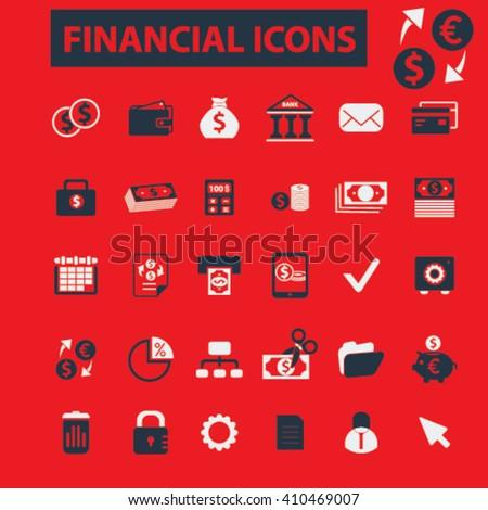 financial icons  - stock vector