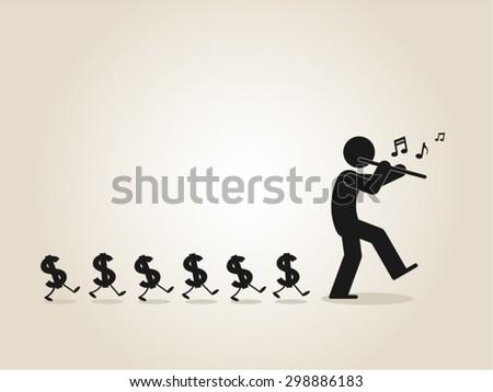 financial management, making money, prosperity, wealthy - stock vector