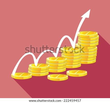 Financial success concept - stock vector