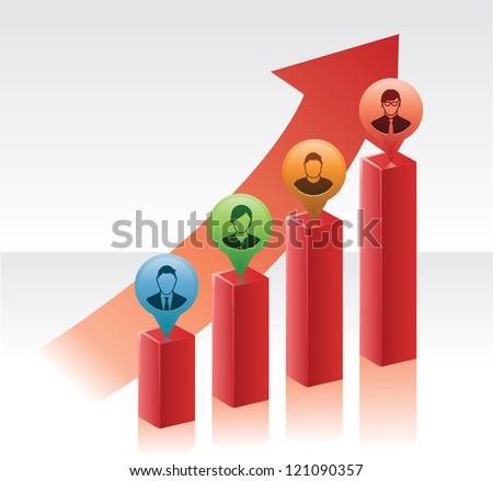 Financial_Team - stock vector