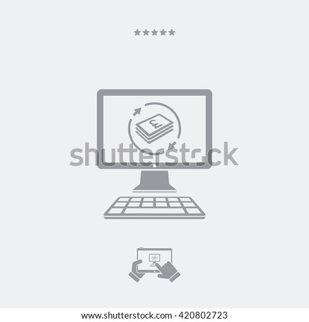 Financial web services - Sterling - stock vector